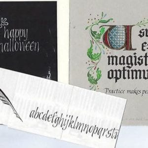 Blackletter calligraphy image